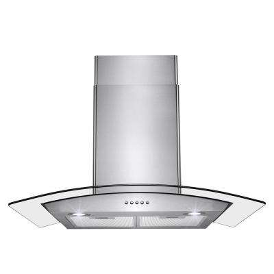 30 in. 400 CFM Convertible Wall Mount Range Hood in Stainless Steel with LEDs and Push Control