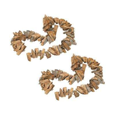 Pensacola Natural Wood Garland (2-Pack)