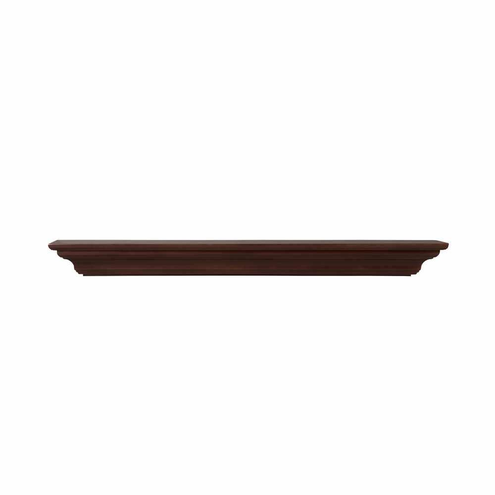 pearl mantels crestwood 72 in x 5 in mdf brown paint cap shelf rh homedepot com Home Depot Electric Fireplaces Fireplace Surround Kits
