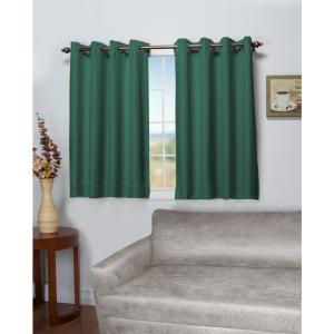 Tacoma 50 in. W x 45 in. L Polyester Double Blackout Grommet Window Panel in Woodland Green