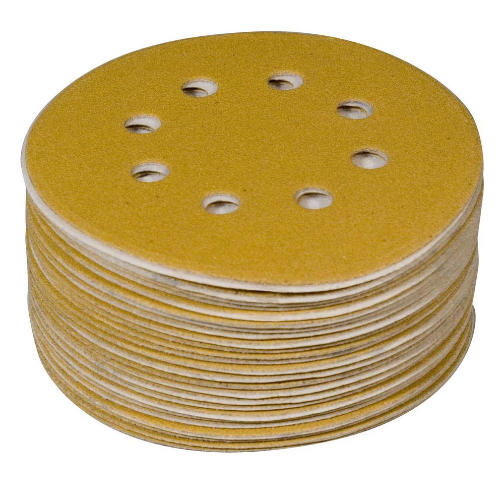 Gold 100 POWERTEC 45201XG-100 6 A//O Hook /& Loop 6 Hole Sanding Disc Assortment Grits 80 100 Pack 220 150 120