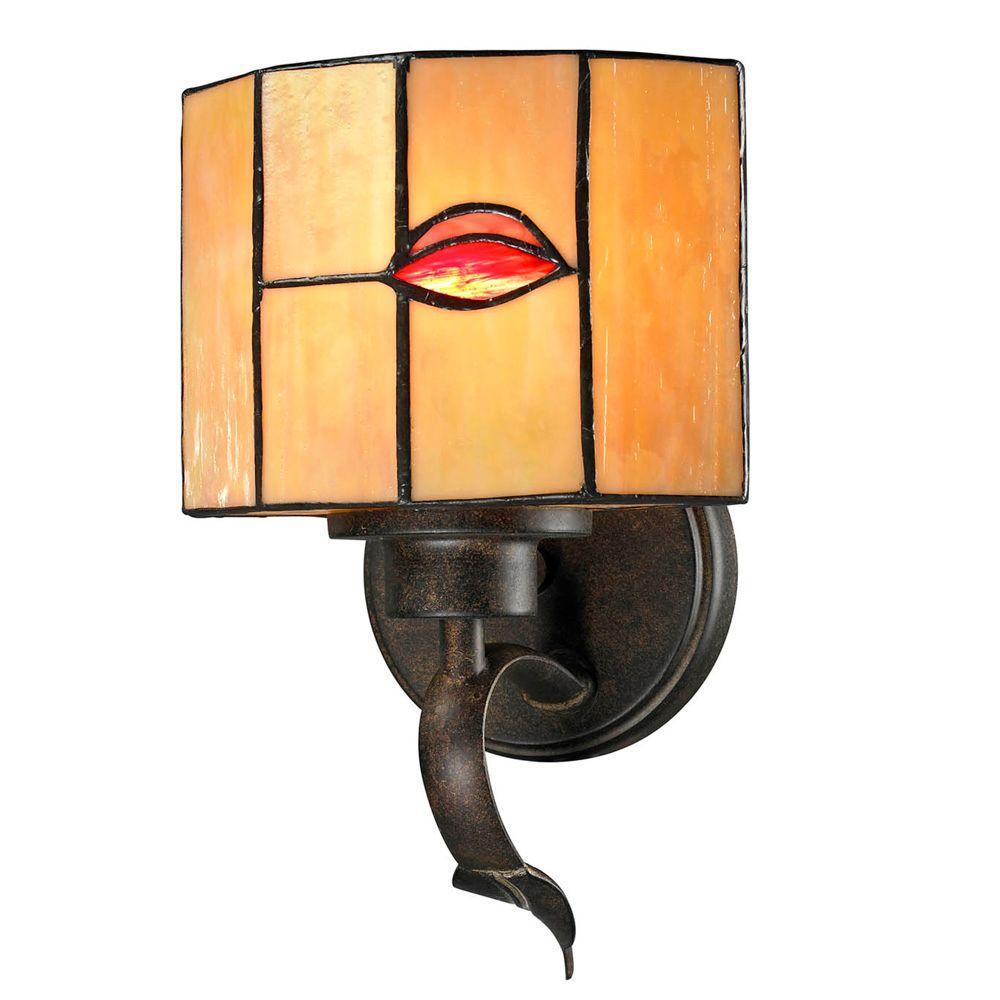 Fantom Leaf 1-Light Rustic Bronze Sconce