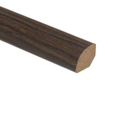 Iron Wood 5/8 in. Thick x 3/4 in. Wide x 94 in. Length Vinyl Quarter Round Molding