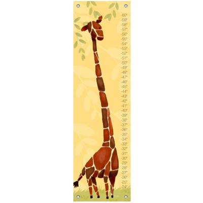 "42 in. x 12 in. ""Gillespie Giraffe"" by Meghann O'Hara Growth Charts Wall Art"
