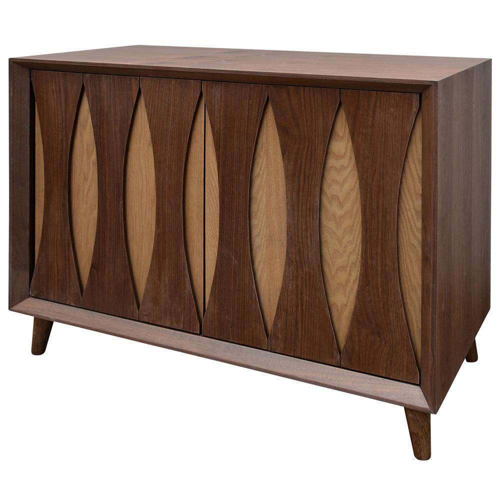 Light Walnut Stain 2-Door Cabinet
