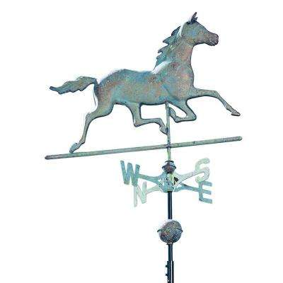 48 in. Verdigris Horse Copper Weathervane