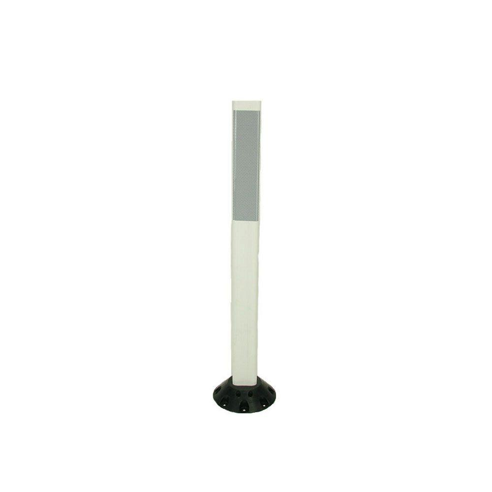 36 in. Repo Post Workzone White Delineator Post with Base and