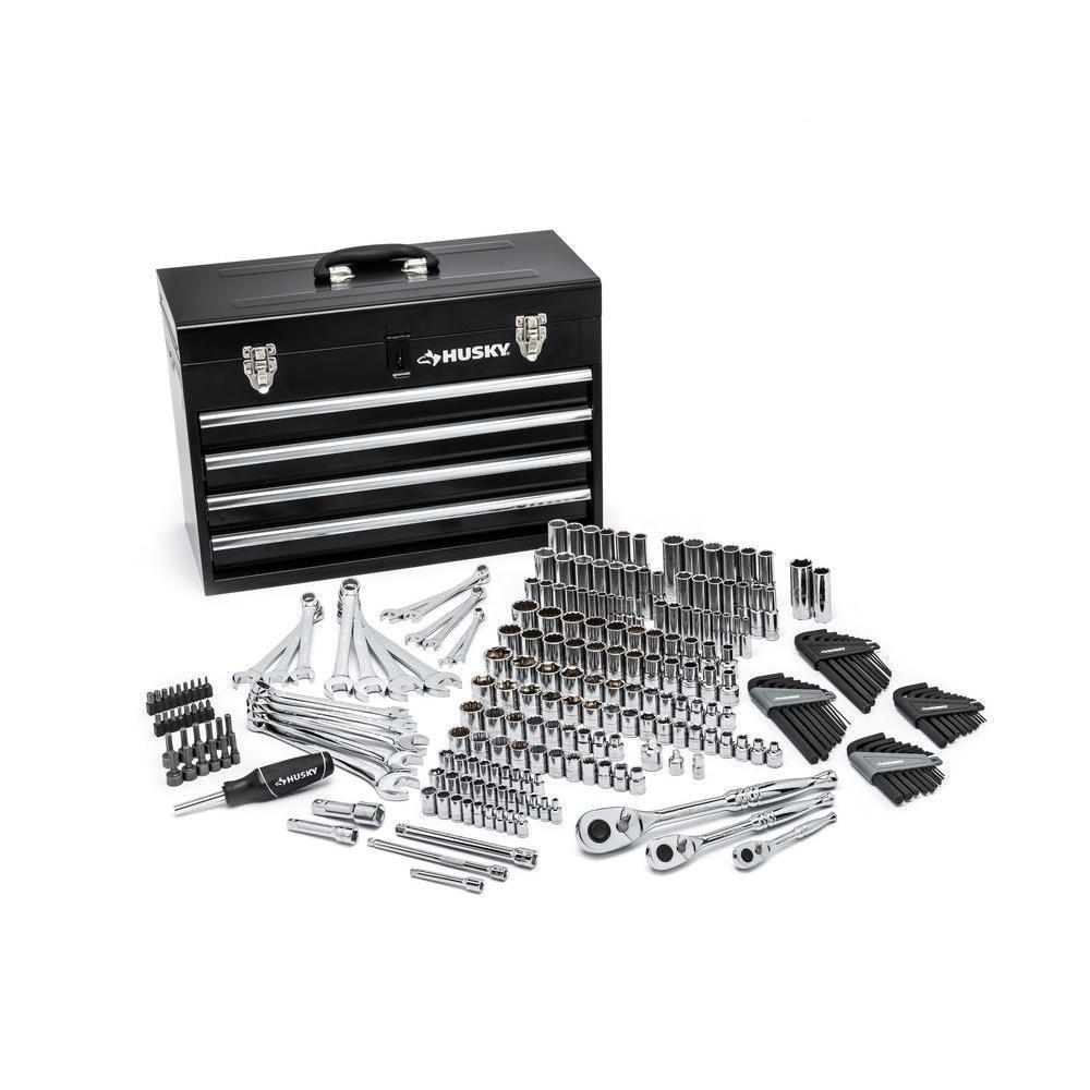 Mechanics Tool Set with Steel Storage Chest (250-Piece)