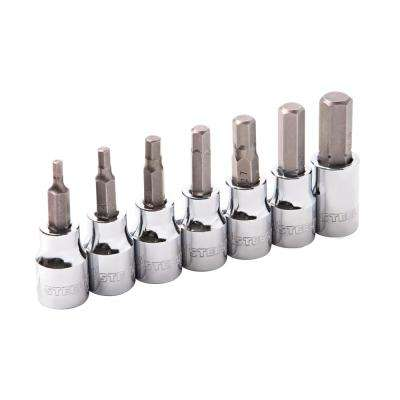 1/4 in. and 3/8 in. Drive Star Bit Socket Set (8-Piece)