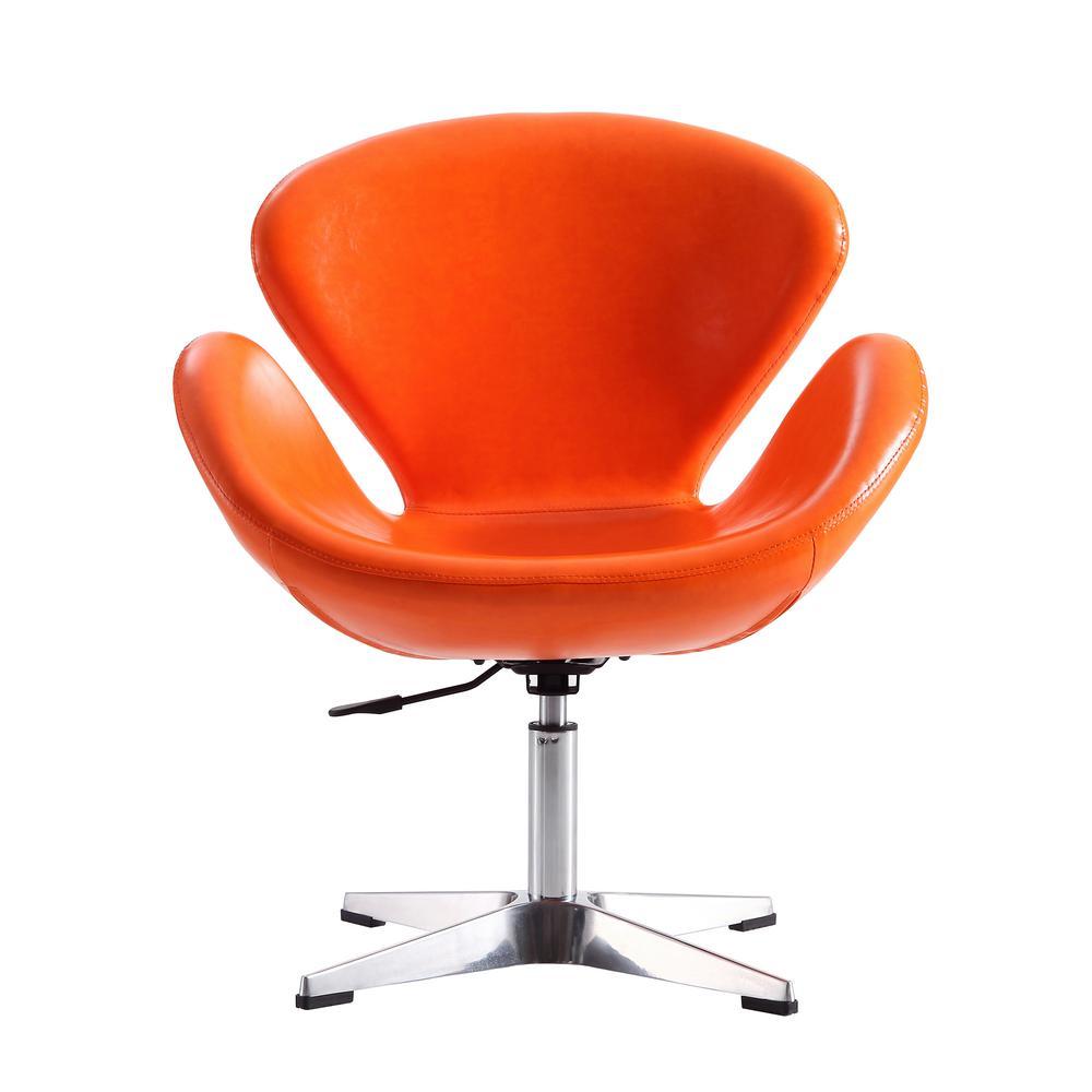 Tangerine Leatherette Raspberry Adjustable Swivel Chair