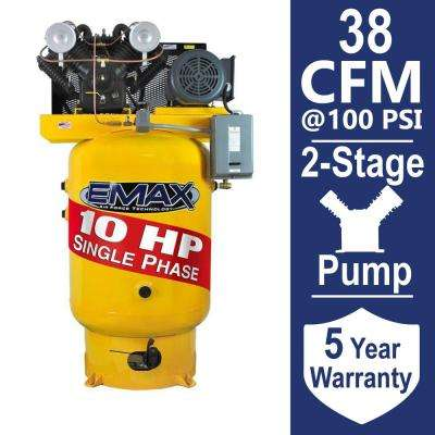 Industrial PLUS Series 80 Gal. 10 HP 1-Phase Vertical Electric Air Compressor