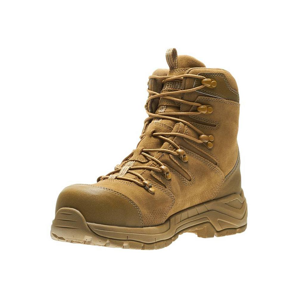 97d75eacbce Wolverine Men's Contractor LX Size 10M Coyote Full-Grain Leather Composite  8 in. Work Boot