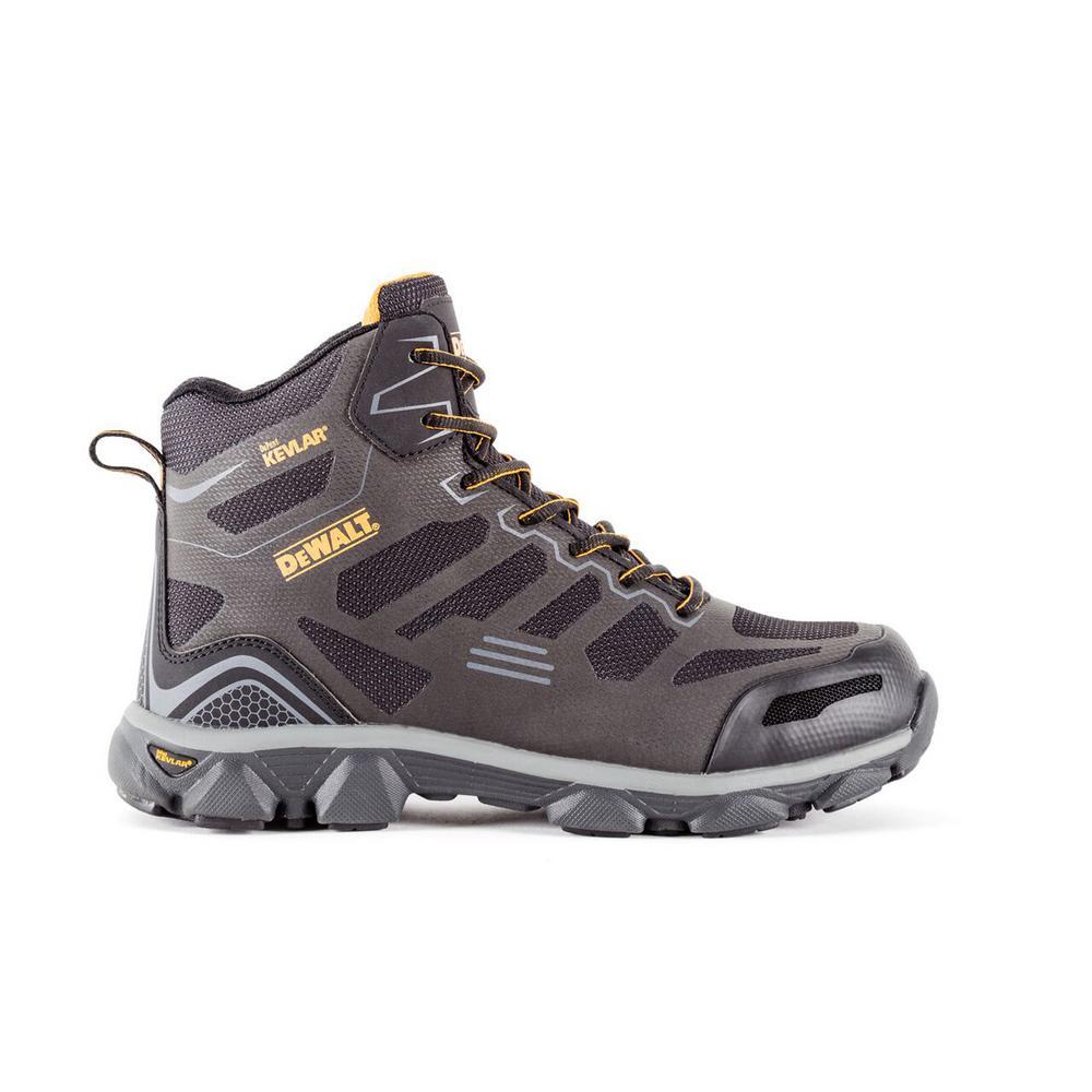 f8f8b910638 DEWALT Crossfire Mid Men's Black Kevlar Aluminum Toe Puncture Resistant  ProLite Work Boot