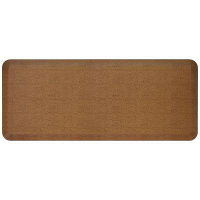 Designer Pebble Caramel 20 In X 48 Anti Fatigue Comfort Kitchen Mat