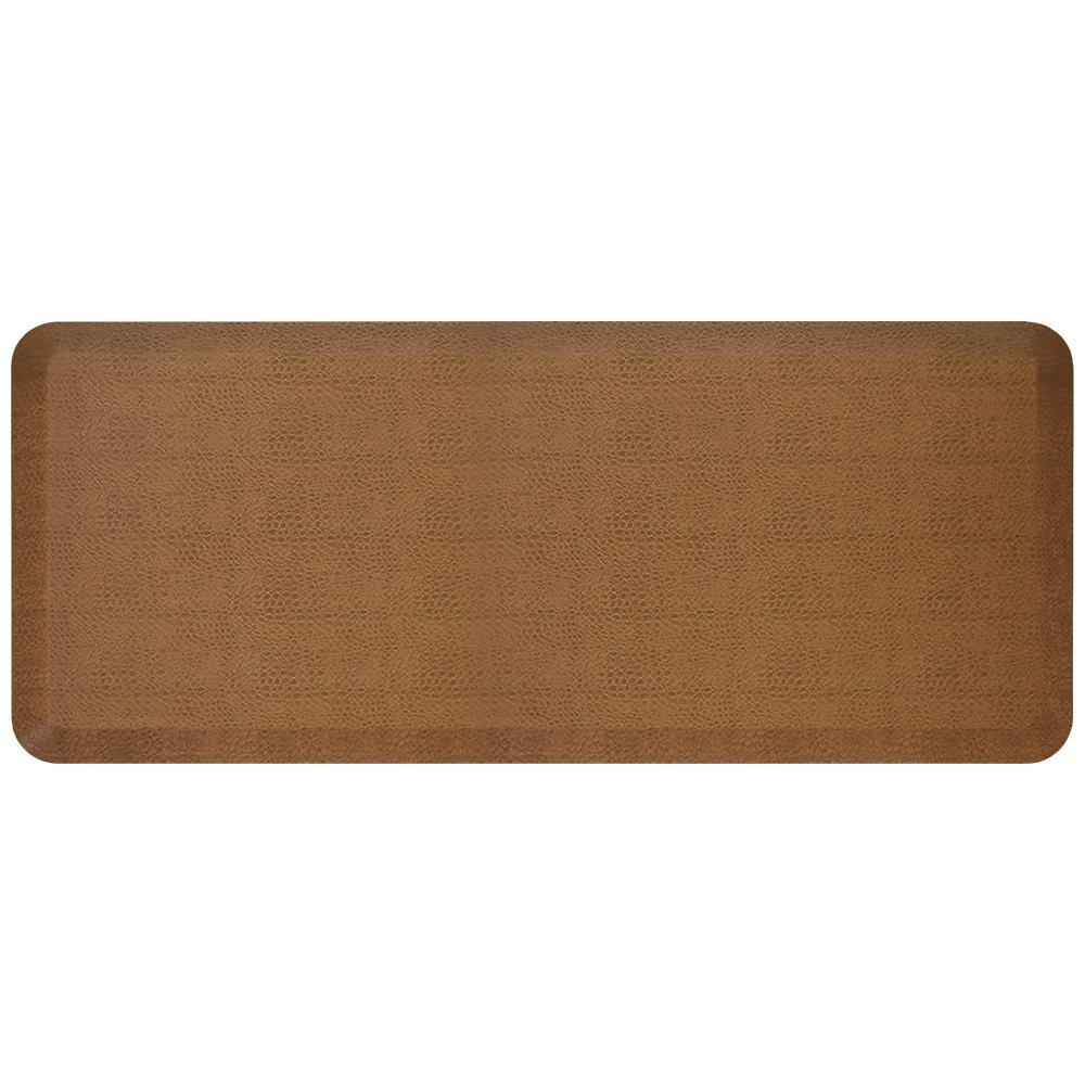 Newlife Designer Pebble Caramel 20 In X 48 In Anti Fatigue Comfort Kitchen Mat 106 11 2048 3