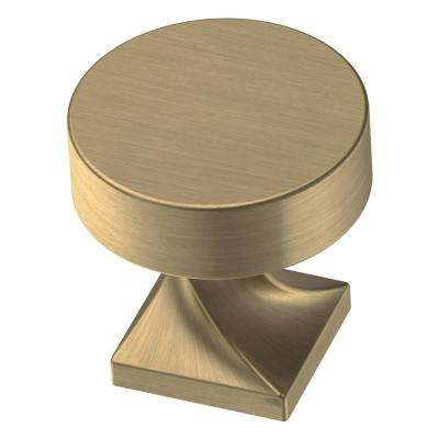 Everly 1-1/8 in. (28 mm) Champagne Bronze Round Cabinet Knob (10-Pack)