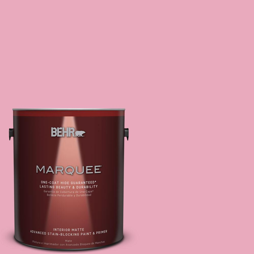 BEHR MARQUEE 1 gal. #T11-14 Kawaii Matte Interior Paint and Primer ...