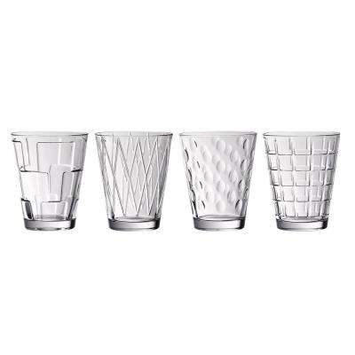 Dressed Up 4-Piece Glass Tumbler Set Assorted Designs