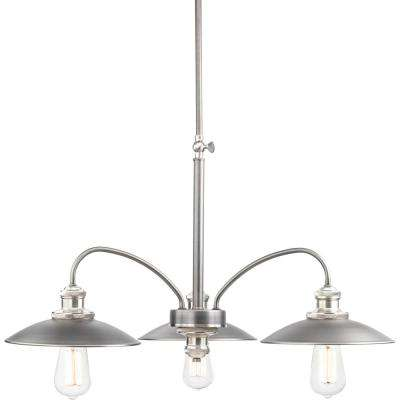 Archives Collection 3-Light Antique Nickel Chandelier
