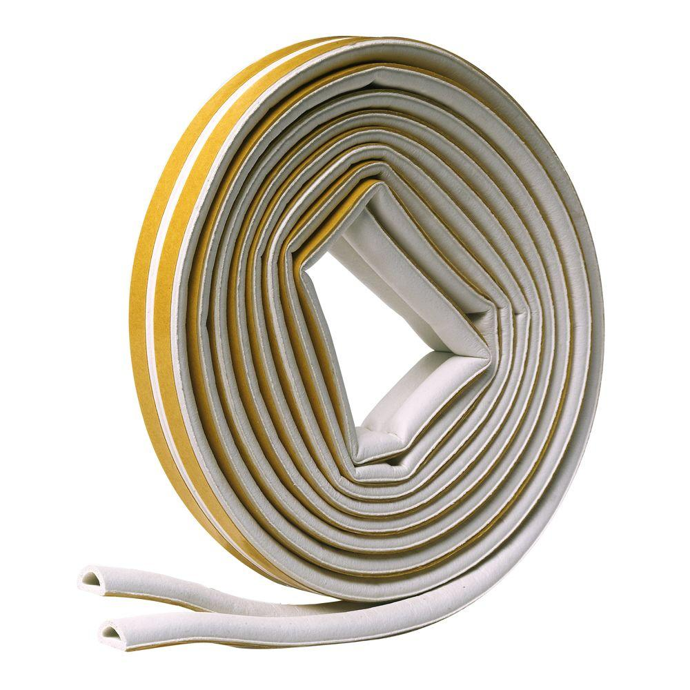 Frost King 5/16 in. x 1/4 in. x 17 ft. White D-Center EPDM Medium Gap Weatherseal Tape