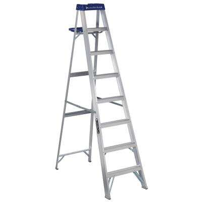 8 ft. Aluminum Step Ladder with 250 lbs. Load Capacity Type I Duty Rating