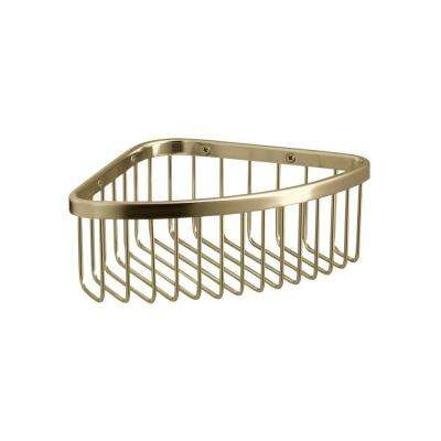 Medium Shower Basket in Vibrant French Gold