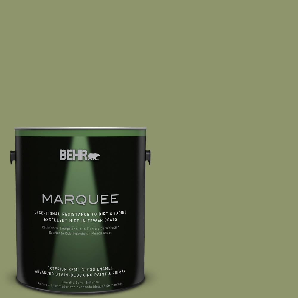 1-gal. #410F-5 Boston Fern Semi-Gloss Enamel Exterior Paint