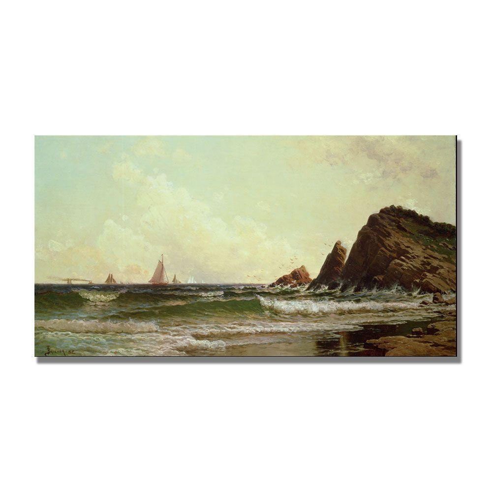 Trademark Fine Art 16 in. x 32 in. Cliffs at Cape Elizabeth Canvas Art
