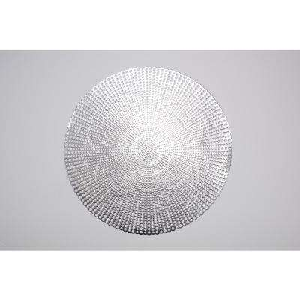 Brocade Silver 100% Eco Friendly Vinyl Placemat (Set of 4)