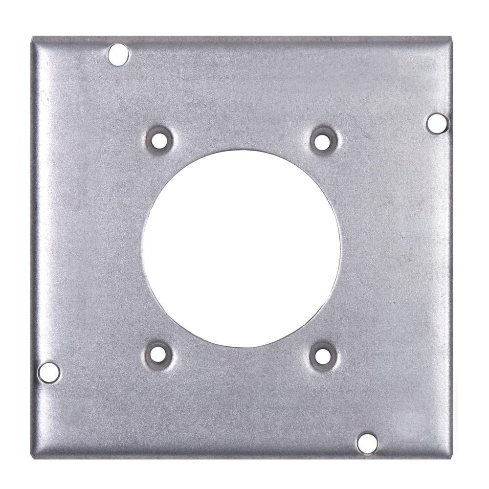 4-11/16 in. Pre-Galvanized Steel Square Box Surface Cover (10-Pack per Case)