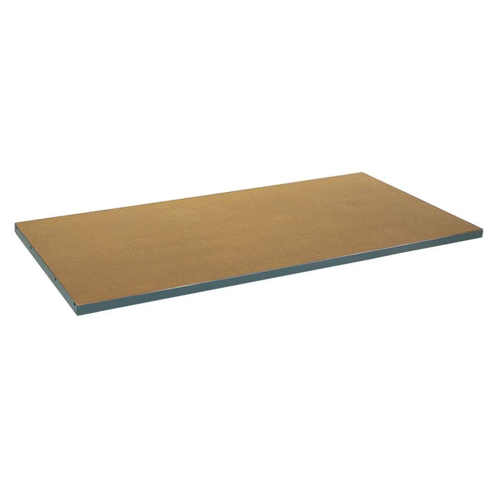 Edsal 2 in. H x 60 in. W x 30 in. D Tempered Pressed Wood on Steel Work Bench Top