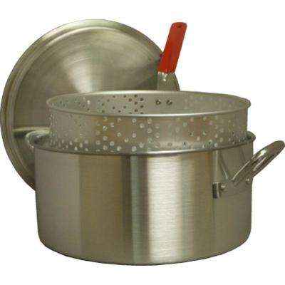 14 qt. Aluminum Fry Pan with Punched Basket