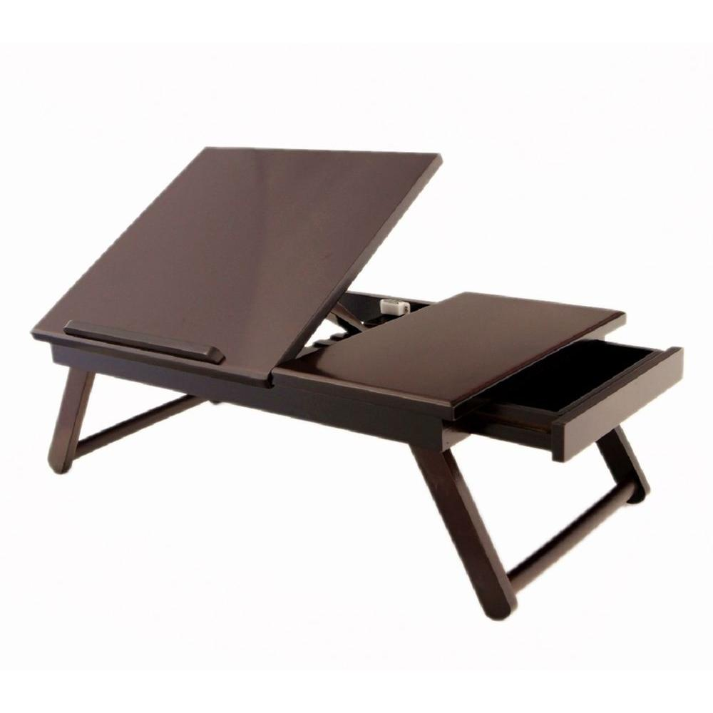 Megahome Espresso Lap Desk Mh421 The Home Depot