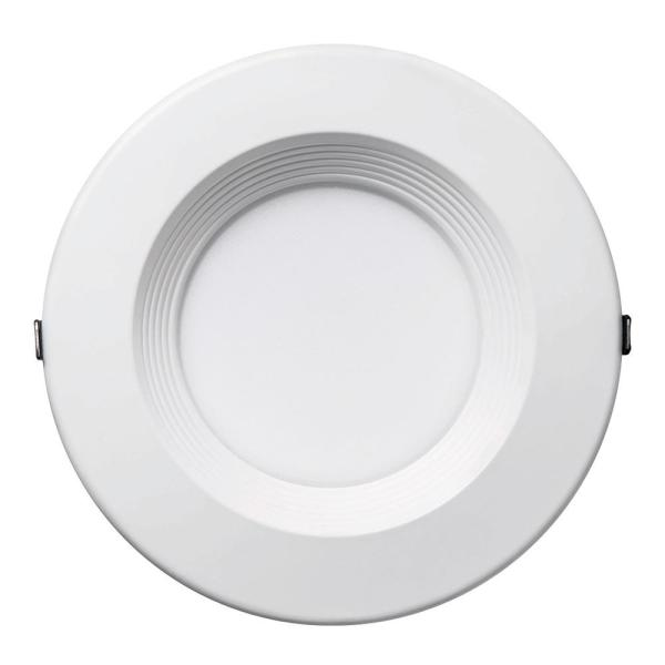 8 in. Canless Selectable Integrated LED Recessed Retrofit Baffle Trim Downlight