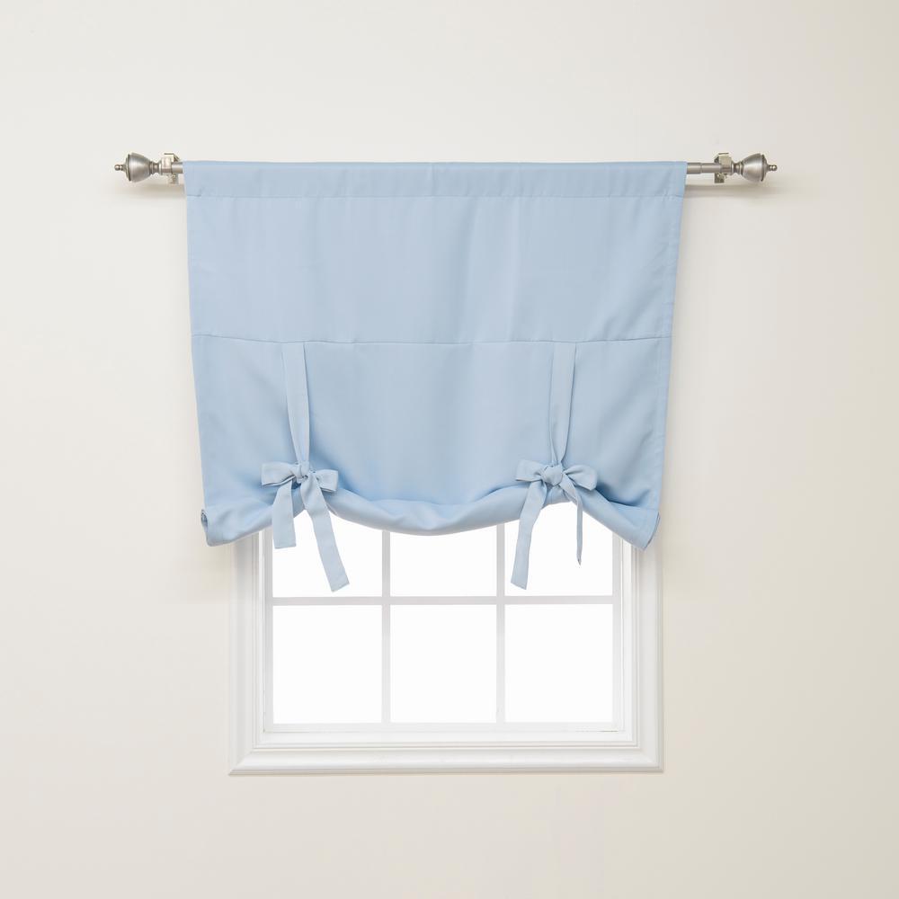 Best Home Fashion Basic 42 in. W X 63 in. L Drapery Panel in Sky Blue