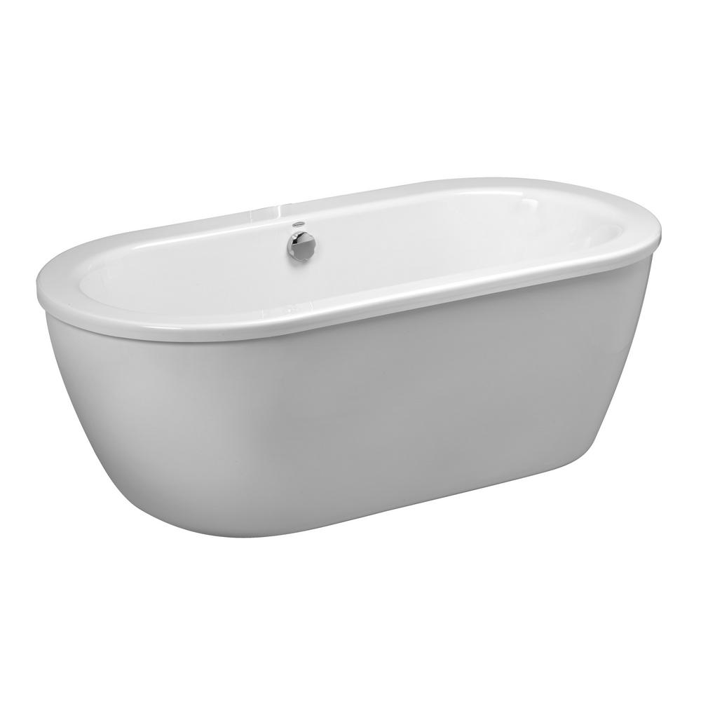 Cadet 5.5 ft. x 32 in. Center Drain Freestanding Bathtub in
