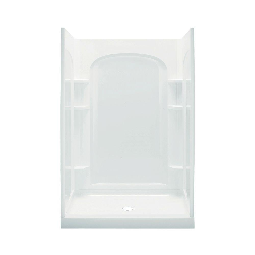 STERLING Ensemble 35-1/2 in. x 48 in. x 77 in. Curve Shower Kit in White