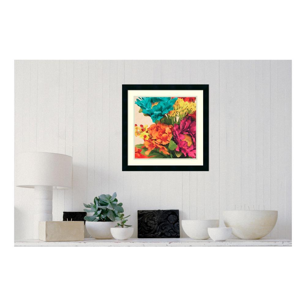 21 in. W x 21 in. H 'Pop Art Flowers I' by Jocelyne Anderson Printed Framed Wall Art