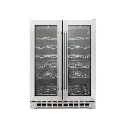 Dual Zone 36-Bottle Convertible Wine Cooler