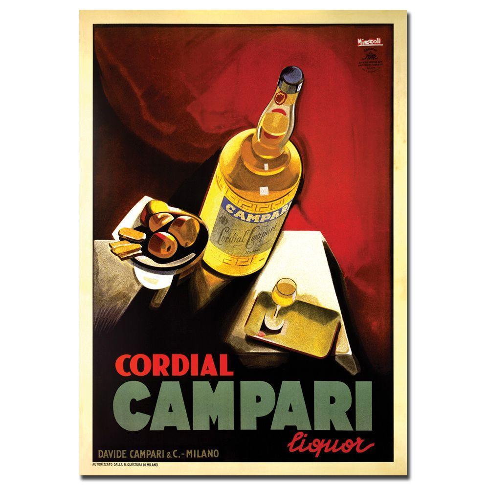 19 in. x 14 in. Cordial Campari Liquor Canvas Art