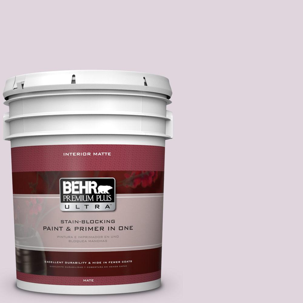 BEHR Premium Plus Ultra 5 gal. #PPU16-7 Mystic Fairy Matte Interior Paint and Primer in One