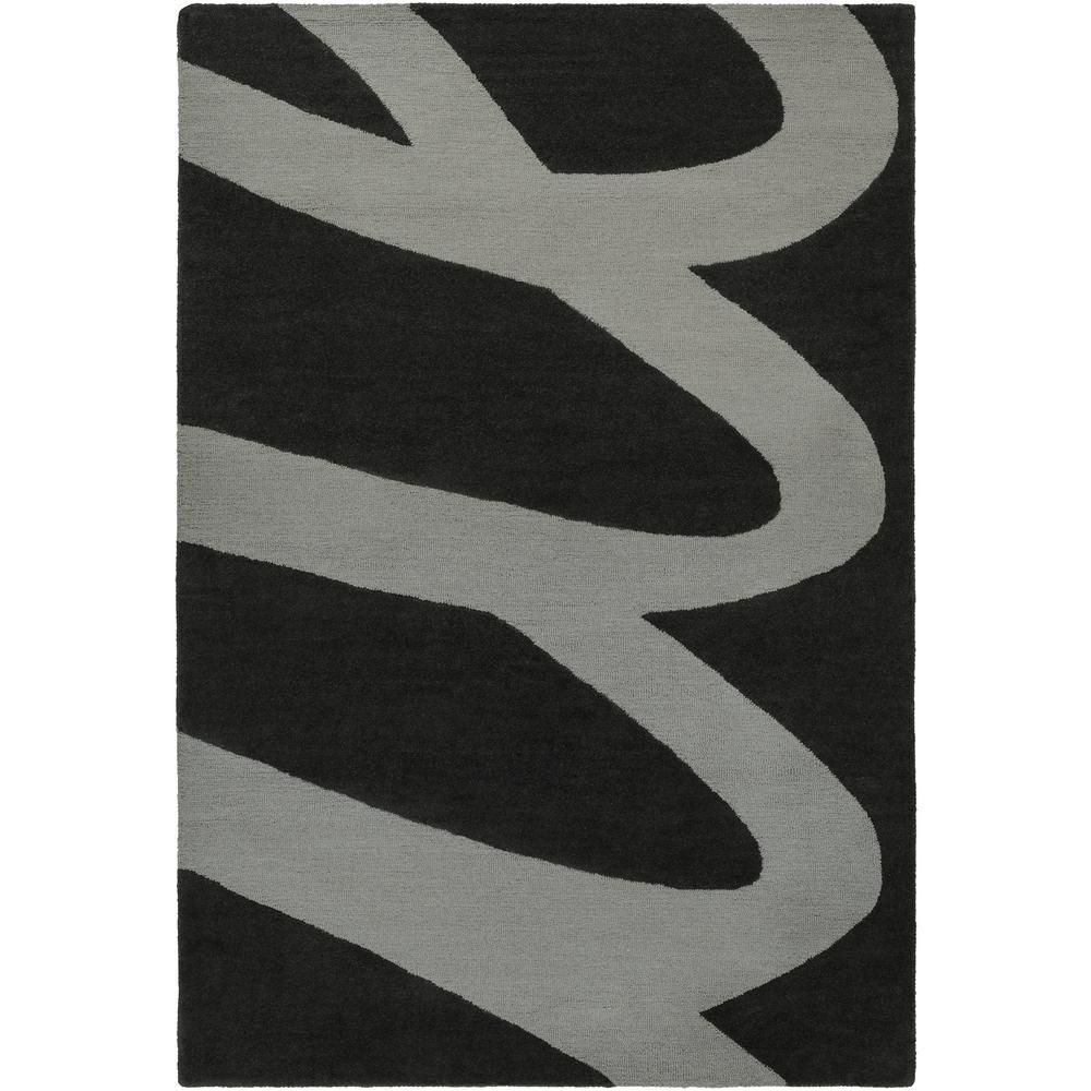 Amelie Black 2 ft. x 3 ft. Area Rug