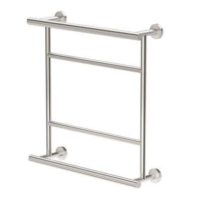 Glam 20.75 in. x 21 in. Towel Centre in Satin Nickel