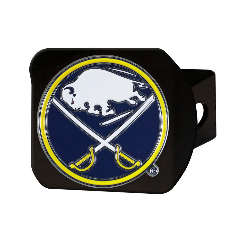 FANMATS NHL Buffalo Sabres Color Emblem on Black Hitch Cover