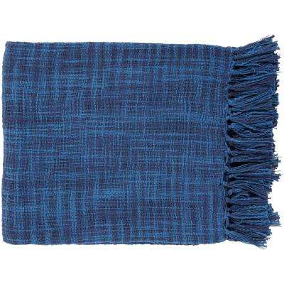 Phoebe Cobalt Cotton Throw