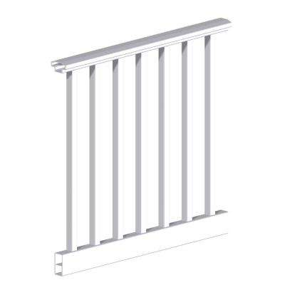 Original Rail 6 ft. x 36 in. White Vinyl Square Baluster H-Level Rail Kit