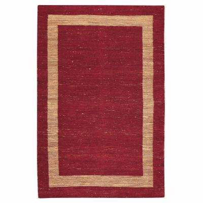 Boundary Red 5 ft. 6 in. x 8 ft. 6 in. Area Rug