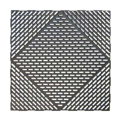 Versa Black 18 in. x 18 in. Recycled Polypropylene Drainage Floor (12-Pack)