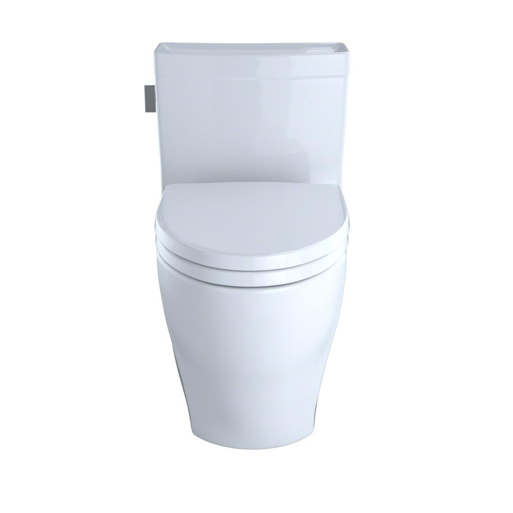 Toto Legato 1 Piece 28 Gpf Single Flush Elongated Skirted Toilet With Cefiontect In Sedona Beige