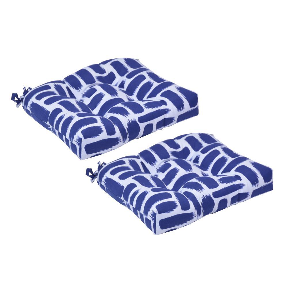 Baja Nautical Trapezoid Outdoor Seat Cushion (2-Pack)